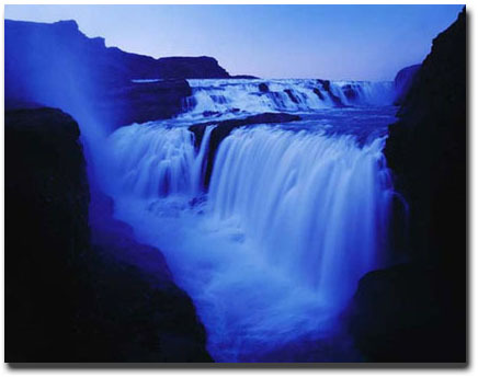bluetown21: Blue Waterfall …