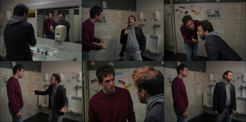 itsalwayssunny:  Dennis: HOW COULD YOU DO THIS? Charlie: Oh, well, excuse me for being the most terrible man on the planet! I'm a terrible man! Dennis: What are you doing!? What is that!? We thought you were dying, Charlie! Charlie: Whoa, whoa, whoa, whoa, whoa. Who's we? Dennis: Me and Mac and Sweet Dee. Charlie: Oh, great! Great. I told you not to tell anyone. Now I'm gonna have to go into remission or something so they don't think I was lying. Dennis: YOU WERE LYING!!! Charlie: YEAH, I LIED TO YOU, alright!? Look. The girl— she wears a Lance Armstrong bracelet. Okay? So I tell you that I have cancer, right? Then you're gonna tell her, she's gonna feel sorry for me, we're gonna start dating, and THAT'S THE WAY THAT LIFE WORKS, MAN!!! Dennis: THAT WAS A HORRIBLE THING TO DO!! Charlie: Well, I'm a bad guy then. Dennis: You are a bad guy! You lied to us. Charlie: Alright, look at this. Sometimes you gotta crack a few eggs to make an omelet. Dennis: You gotta crack a couple of eggs to make an omelet? Charlie: You gotta crack an egg. Dennis: So you're throwing down life lessons now? Charlie: I'm throwin' down eggs! Dennis: Class is in session! The teacher's teachin' class now! Charlie: I'm crackin' eggs of wisdom! Dennis: Is that what you're doin'? Let me crack one more egg for you and throw it in the omelet. Charlie: You got an egg? Dennis: The waitress doesn't even like you. We had to pay her $250 to have sex with you! Charlie: A-ha! Because— nnnm. Sex?? We didn't have sex! … *sigh*