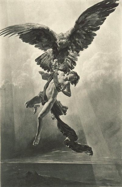 thewarindrew:  Ganymede a youth so beautiful Zeus stole him to become his *ahem* 'cup bearer'