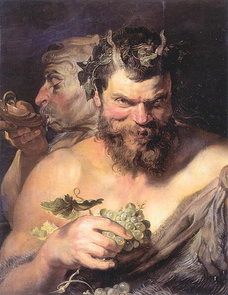 "men-in-full:  stefanie-bean:  Peter Paul Rubens, ""Two Satyrs"""