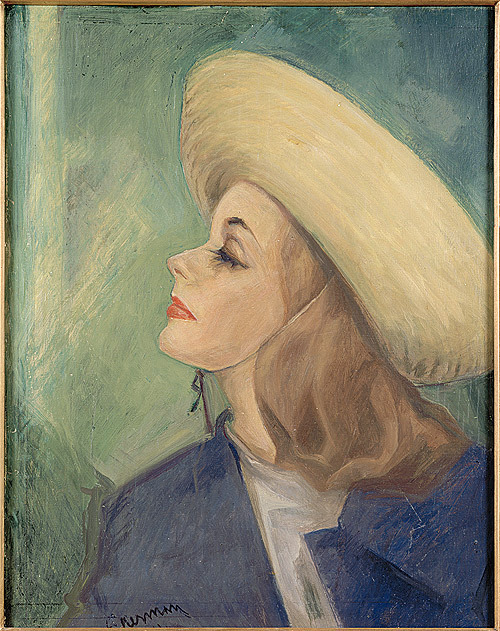 Greta Garbo By Einar Nerman at The Royal Swedish State Potrait Collection in Royal Gripsholm Castle. The great actress Greta Garbo Birthday 18 th September 1905.