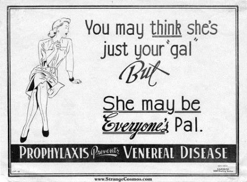 Condom ad. For those who wanted to get safely dirty in the thirties.