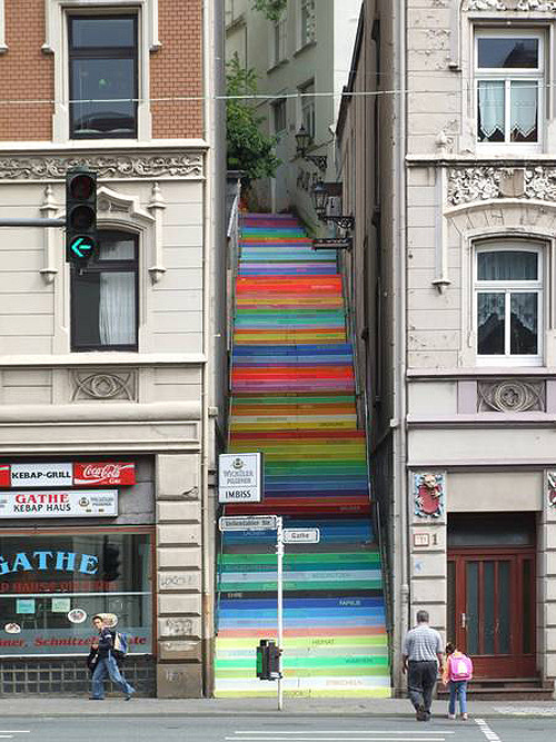 Rainbow Stairs in Germany