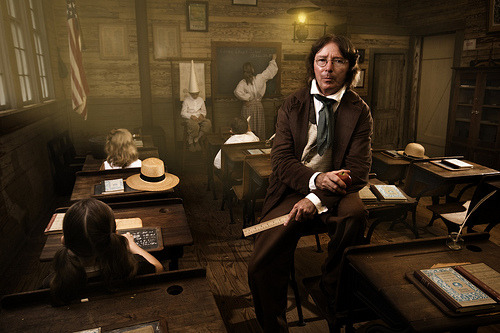 Old Alabama Town Schoolroom (via Stephen Poff) An amazing new portrait by one of the most inspiring photographers on Flickr. You may not know, but Stephen Poff was basically the very first to start the 365 Project, which group now has over 15,000 members. His self portrait work has not only improved exponentially, but I love following his professional photography career just get better and better as well. Still dedicated to his 365, but not posting as frequently - if you haven't already, you really should take a look around his stream.