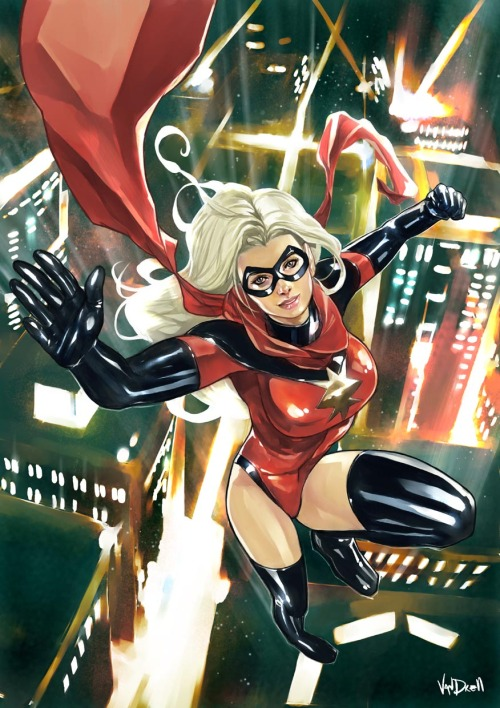Ms. Marvel in Big city nights by Daniel Vendrell Oduber