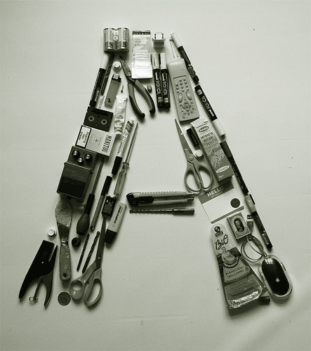 Object lettering (via We Love Typography)