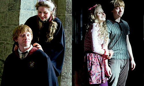 rupert grint, with co-star jessie cave, in movie stills from harry potter and the half-blood prince, 2009.