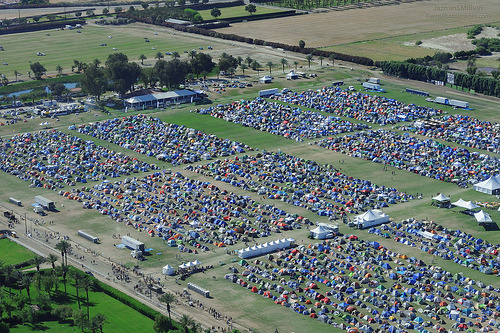 Picture of the campgrounds, 2009 (via Jazmin Million).