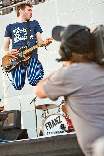 Franz Ferdinand on Camera @ Coachella 2009 (via Mick Opportunity)