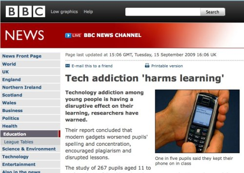 "This BBC news story caught our eye this week. Every now and then the media jump on the ""negative effects of technology"" band wagon. This piece raises the issues of young people becoming technology junkies and the creation of a generation of short attention spans. There have been quite a few responses on-line this a really good one… In terms of our project, there is a fascinating tension between the careful pencil marks of early learners and the instant gratification of touching a screen that responds. This mix of the physical and the virtual needs to explored and understood."