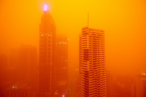 Dust Storm Sydney Today, in Sydney, there was a huge red dust storm throughout the city. People have been taking loads of amazing photos. photo by Highranger   via maniacalrage