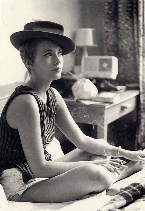 Jean Seberg in À bout de souffle (Breathless), 1960. Written by François Truffaut and Directed by Jean-Luc Godard.