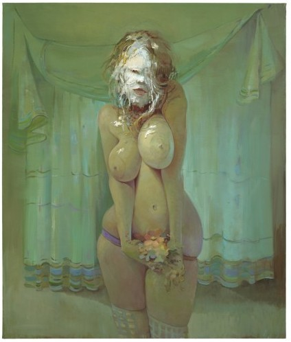 "PieFace by Lisa Yuskavage ""You can't paint and be intimidated.  You have to be the one on top, and painting on the bottom.""  - Yuskavage (tonight @SFAI)"