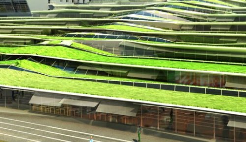 Inhabitat Stunning Green Roofed High School | Inhabitat Revin, France, by Off Architecture via makdreams