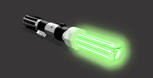 T of the Day: Lightsaver, for the eco-friendly Jedi