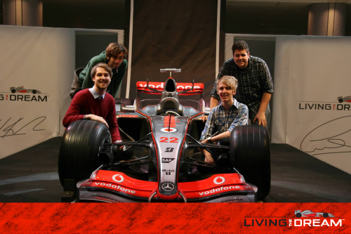 Here we are with Lewis Hamilton's Formula 1 Car.  LIVING THE DREAM.. ALRIGHT!