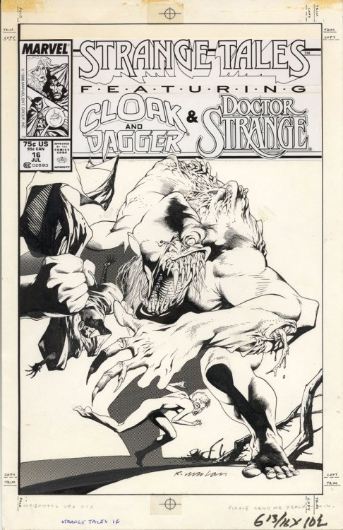 Strange Tales #16 cover art by Kevin Nowlan