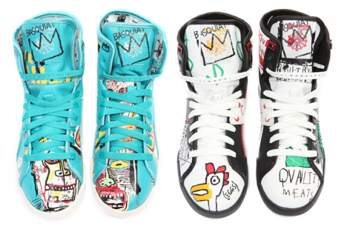 Basquiat-inspired sneakers. Lovely.