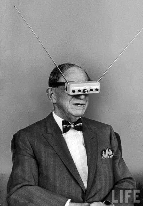 "dblbss:  are2: TV Glasses  (that's none other than Hugo Gernsback, inventor, the ""father of modern science fiction"" and the namesake for the Hugo Award)"