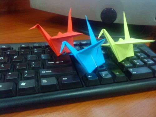 Cranes #88 - #90 They're like boats on a sea of potential words.