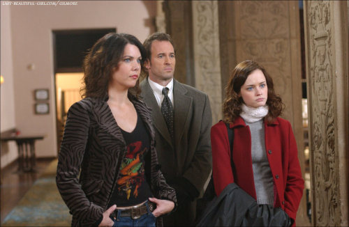 Lorelai, Luke, and Rory