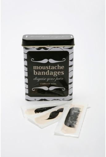 hinthint:  colourfulish:   buchino: Moustache Bandages (via daniregal)