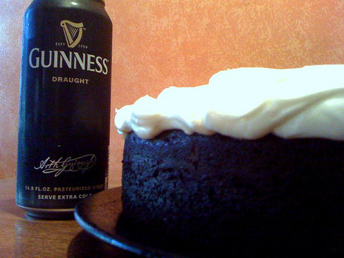 Another creation of the Guinness Cake, and more happy people, this time at an office party