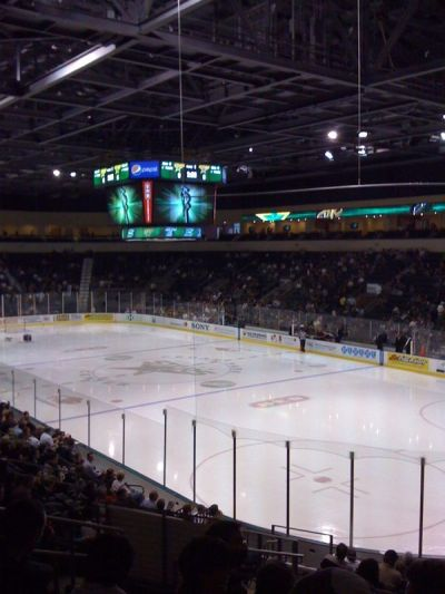 At the Dallas Stars vs Texas Stars game in Cedar Park