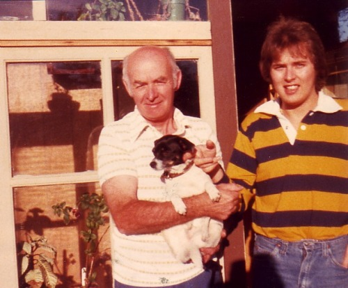 Grandpa Mac, Woofer and Dad, circa 1979 I Miss My Grandpa And I always will. It has been six years today since we lost my Grandpa Mac to evil, evil cancer. If I had to lay bets, I would have guessed that he'd be the last of my grandparents to go, but life is one crazy mixed up mother-so-and-so. To me, Grandpa Mac was incredible. He'd arrive in the summer with fishing and canning and berries and jam in his wake. He made root beer. He competed in the BC Summer games and let me and my cousin make bullets in his creepy laundry room. He took me bowling and on long hikes and let me pick stuff from his garden. He introduced me to the wonder that is beets. He taught me how to play crib and Scrabble and crokinole. He offered porridge, but always made me pancakes. He taught me how to Nordic ski, tried in vain to teach me downhill and let me drive his truck when I shouldn't have. He had the sweetest orange snowmobile and I loved to watch him tow my Dad behind it. He showed me mica and skat and how to be easy-going when everyone around you is just the opposite (not that I've mastered that skill, by any means). He made me feel athletic when everyone else around me made me feel fat. He made me feel listened to when I really just thought I was a nuisance. He made me feel better about losing my cat. He taught my oldest son how to walk. He never thought he'd see a great-grandchild and he held two. He is the only person in my entire existence that I ever spent an extended amount of time with and NEVER had a disagreement with. I'm not sure what that says about me, but it speaks volumes for him. I love my Grandpa Mac. No one in the world is perfect, but I am thankful I've been allowed to idolize him as such. Cheers, Grandpa Mac. You are thought of everyday.