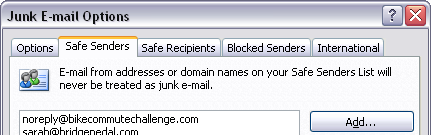 FALSE, Outlook; you put email from my Safe Senders into the junk box ALL THE EFFING TIME