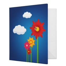 Colorful Daisies binder by BluePlanet