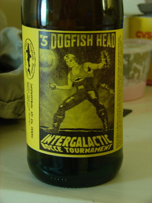 The special beer made by Dogfish Head for their Intergalactic Bocce Tournament held each year at their brewery in Delaware. Given to us as a gift by Sam Calagione when we visited.