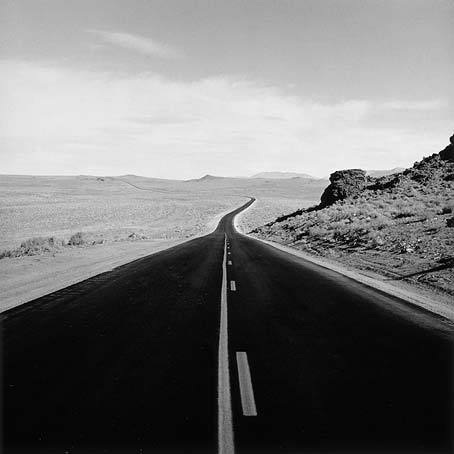 "Peter de Lory: Two-Lane Blacktop, Nevada from the Lost Highways project ""From daydreams on the road there was no waking""– Cormac McCarthy, The Road"