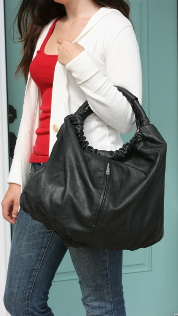 This bag was featured in Lucky magazine! Sondra Roberts Gathered Hobo. on sale and free shipping!