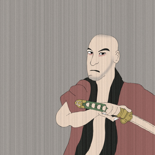 Day 35 of 365 Samurai Me I love Japanese Illustration and thought I would try to draw myself in in a samurai styley. Love to have a real go with some inks.