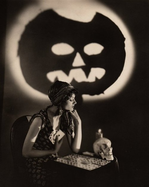 Vintage Photographs - Myrna Loy Halloween