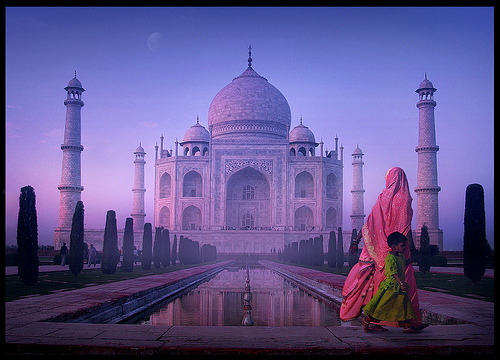 Staring at the Taj by Jean-Francois Mignault Taj Mahal in Agra, India