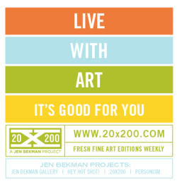 jenbee:  The 20x200 Jobs | We Are Hiring! We are looking for passionate, art-loving people who are the very best at what they do in the following fields: marketing product & project management web development  accounting You must also possess excellent written and verbal communication skills and eat/sleep/breathe social media, the Internet and, of course, art. Sound like you? We can't wait t meet you! Send us your resume and cover letter today. But first, please review, and be sure to follow, our guidelines: - Tell us what you're the best at, what you're looking for in a job and what you find most appealing and/or interesting about working at Jen Bekman Projects. - Please include your cover letter within the body of the email. (Do not send as an attachment.) - Include your resume as an attachment. - Let us know when you can start. - Use the subject line:  [Your Last Name, Your First Name: Job Inquiry: Related Position ]  - email inquiries ONLY, please. Send your stuff to jobs@20x200.com. Please don't be terribly formal. That's boring.