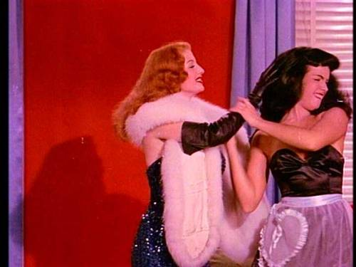 Tempest Storm and Bettie Page in Teaserama 1955
