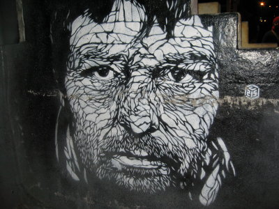 Sharing my love of NYC street art today with this piece from C215 I found in DUMBO.