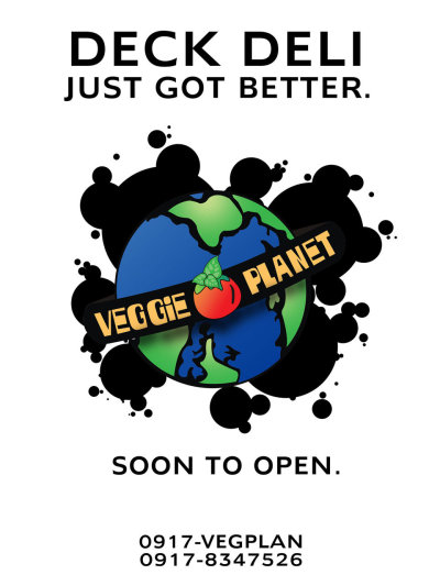 poster for Veggie Planet's opening