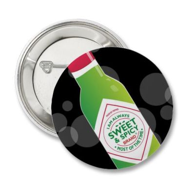 Button pin which can be bought here:http://www.zazzle.com/peppercandy