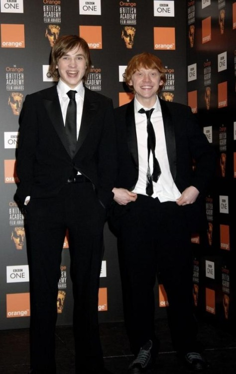 William Moseley + Rupert Grint.