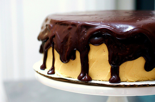 Chocolate Peanut Butter Cake (via smittenkitchen)