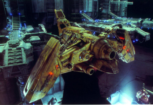 aliensandpredators:  The Betty from Alien: Resurrection Miniature concept ships by Scott Schneider