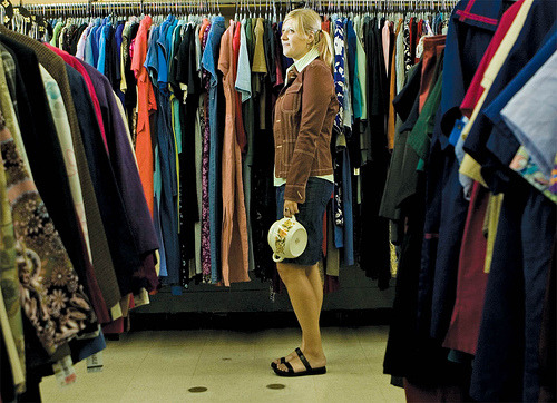 "WANT: A BIG THRIFT STORE. ""Goodwill of Greater Washington is looking to open up to 10 more retail stores in the D.C. area by 2014. ""The nonprofit, which is flourishing in a down economy thanks to cost-conscious shoppers, wants to open more stores to appeal to a broader population. Donations are up, which means more room is needed to house its vast inventory of books, shoes and clothes."" From Washington Business Journal. Photo courtesy of Flickr user empracht."