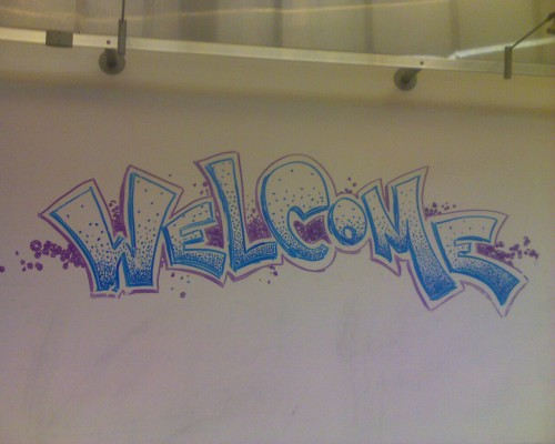 I drew this sign 6 years ago on a DRY ERASE BOARD at an old job of mine. I visited the place recently, and IT'S STILL THERE!