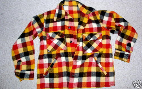 It's On Ebay! A beautiful LL Bean shirt jacket from the mid-1940s.  The colors of the plaid are spectacular.  With all the plaid that's in stores right now, I haven't found much that stacks up to great mid-century fabrics.  Very simple, but very bold. Currently $9.45 with a few days remaining.