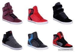 coloncloseparenthesis:  fortheloveofshoes:  Supra Holiday 2009 Releases  !!!  Black = WAAAAAAAAAANT!.