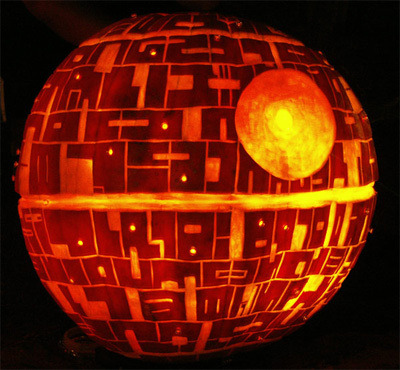 why yes, someone did carve the deathstar :O